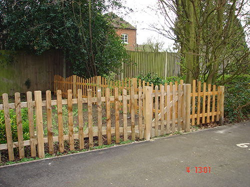 WE FITTED METRES OF PICKET FENCING TOO WITH A GATE