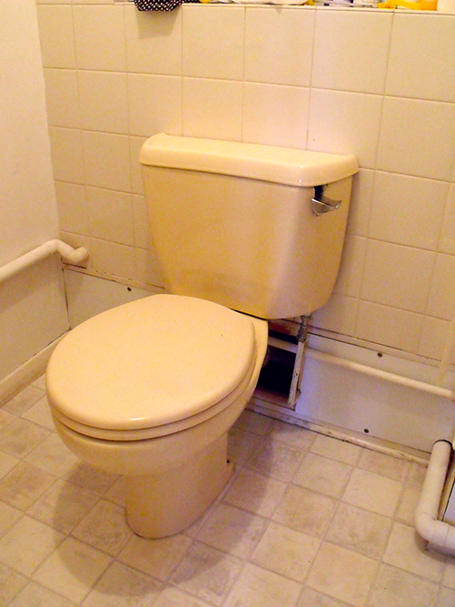 OLD TOILET TO BE REPLACED