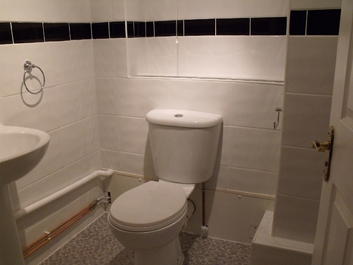 NEW TOILET AND TILING